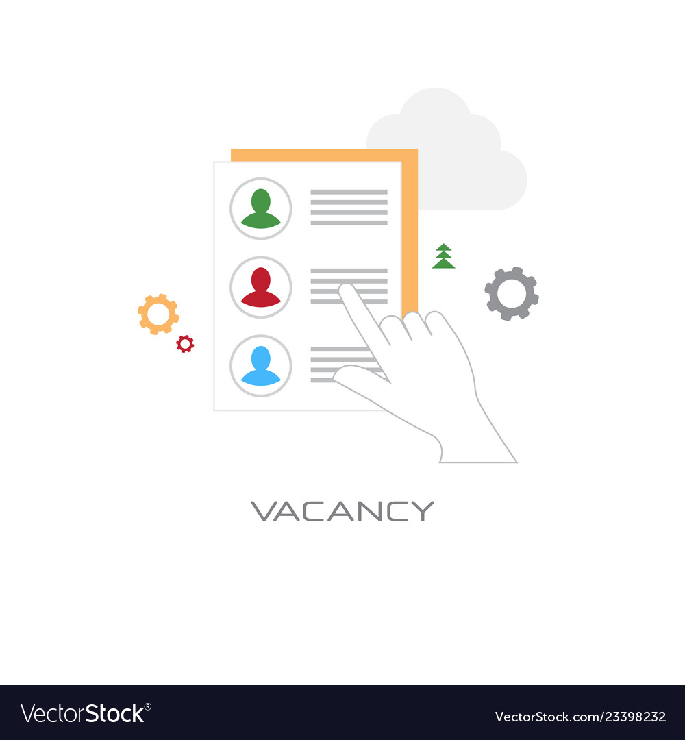 Human resources hand choosing resume vacancy
