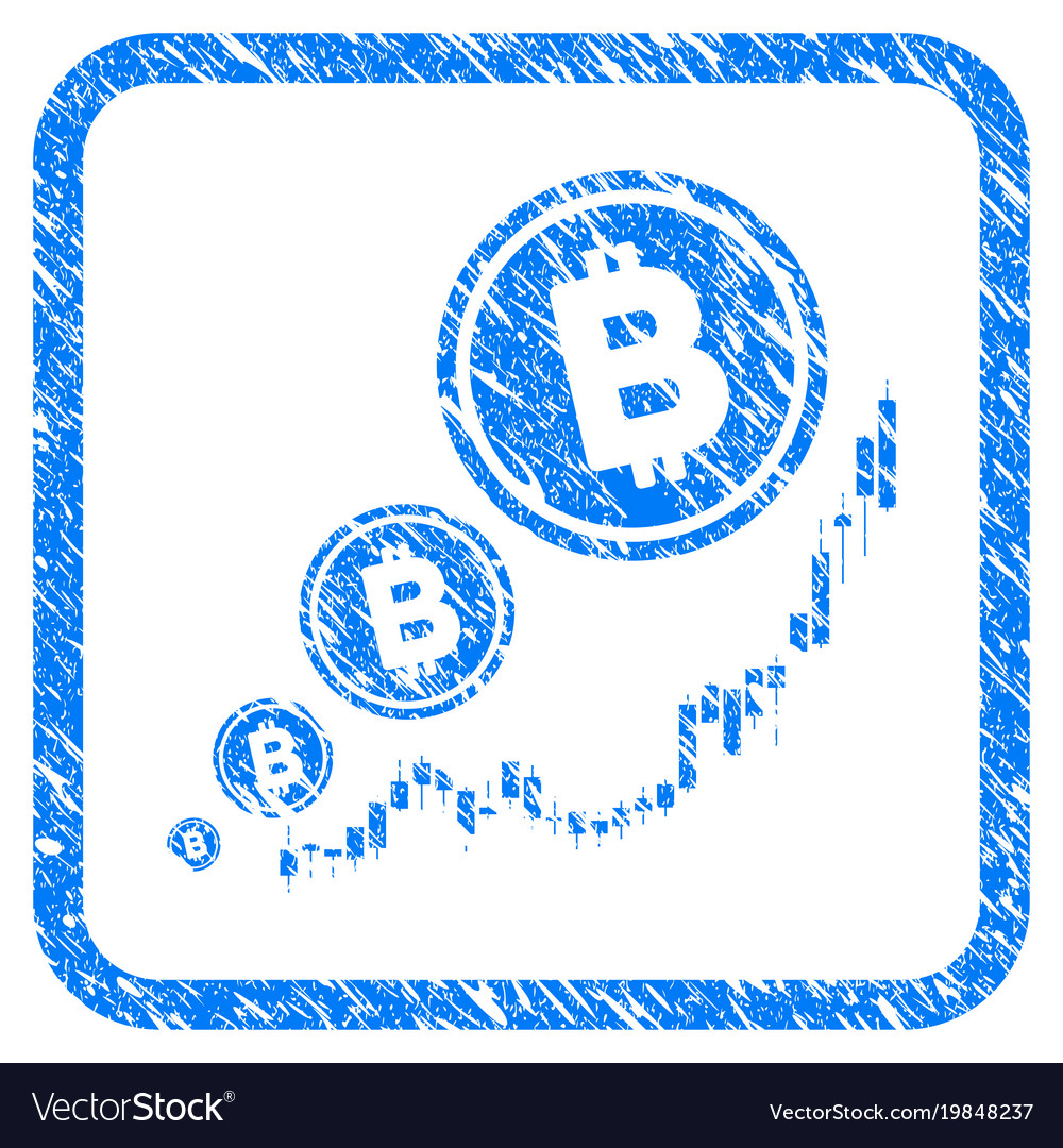 Bitcoin inflation chart framed stamp