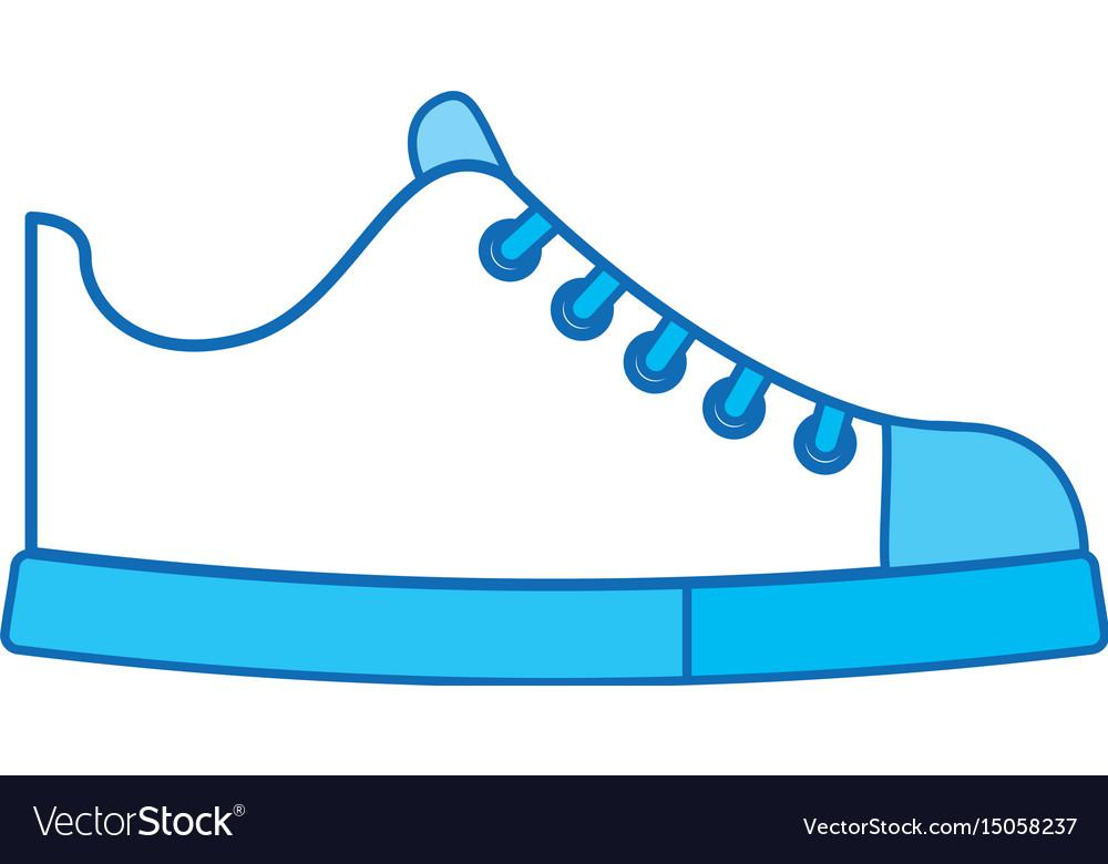 Cute blue icon shoe cartoon vector image