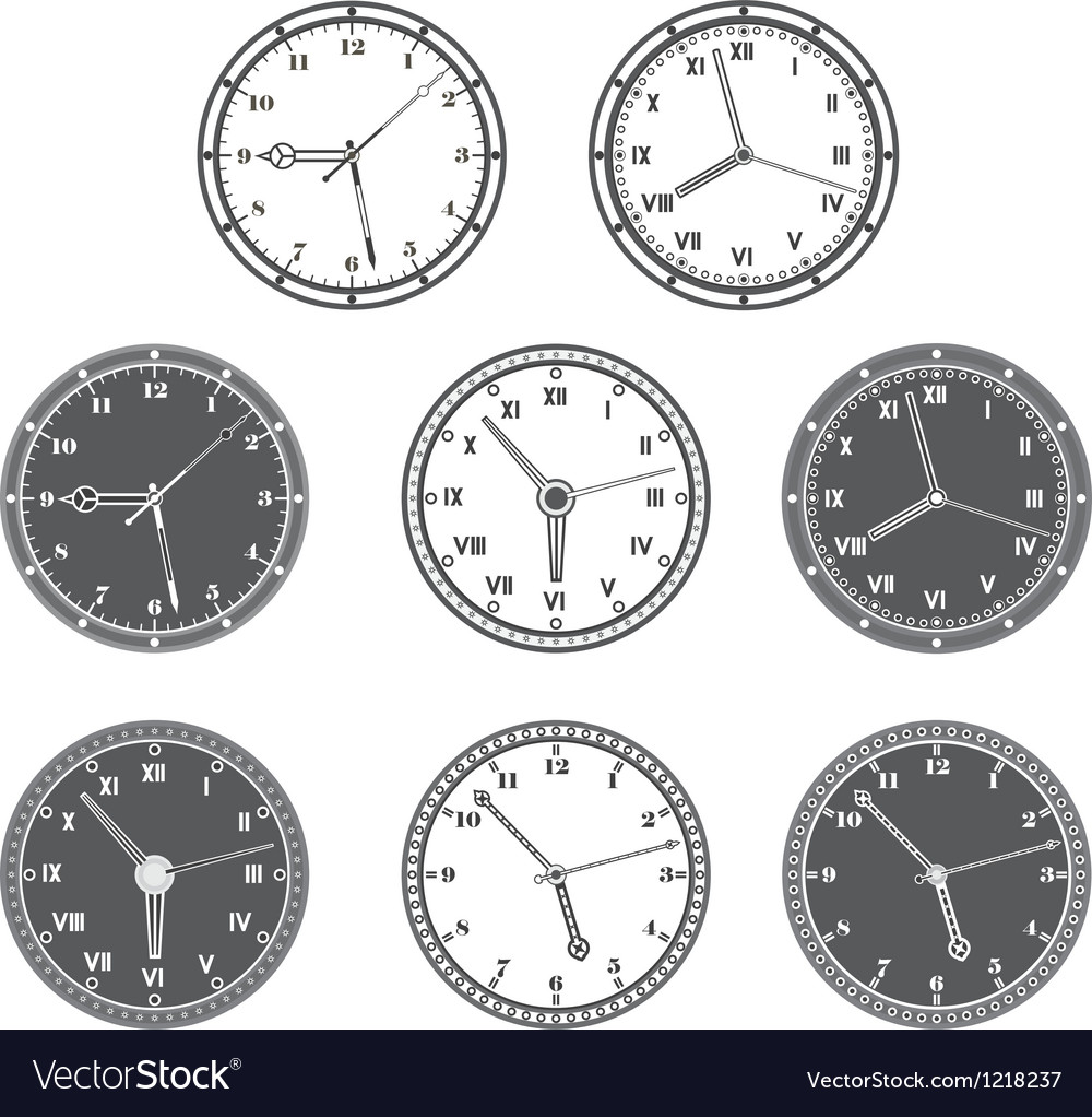 Hours set vector image