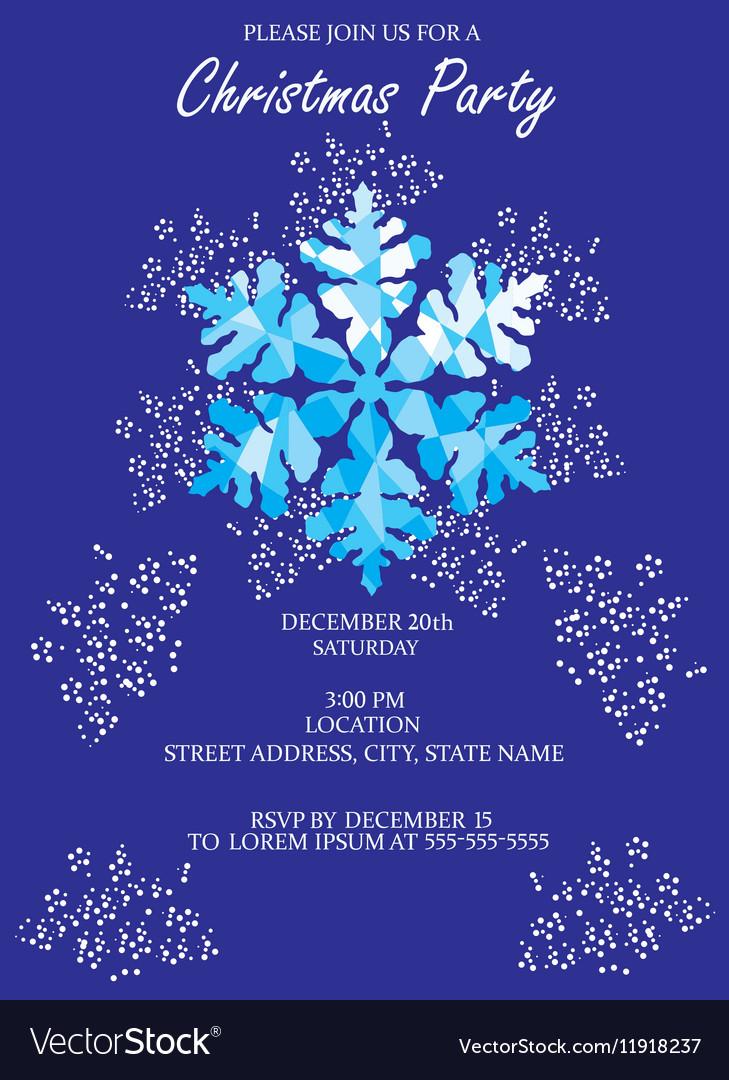 Snowflake invitation vector image
