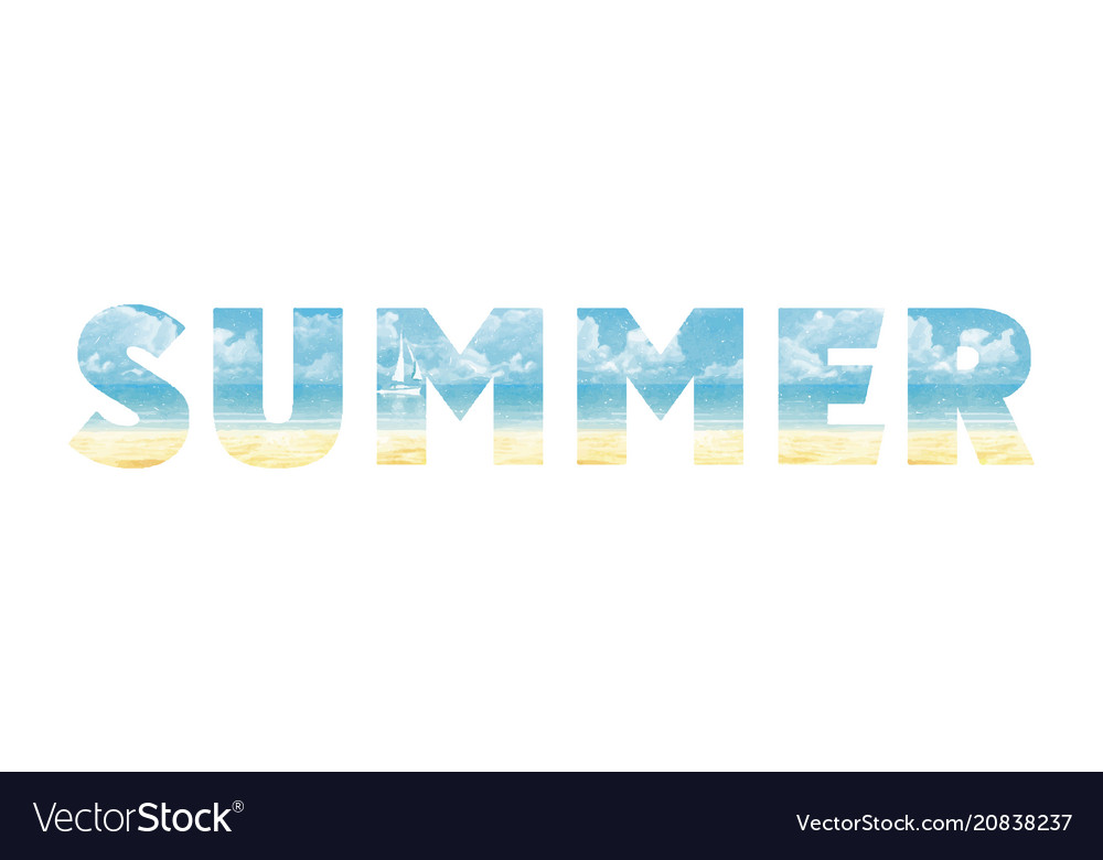 Summer in double exposure