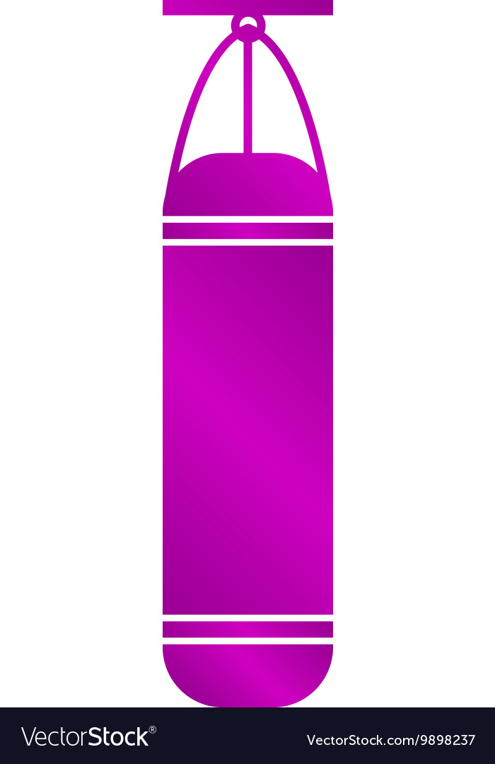 The Punching Bag icon Boxing symbol vector image