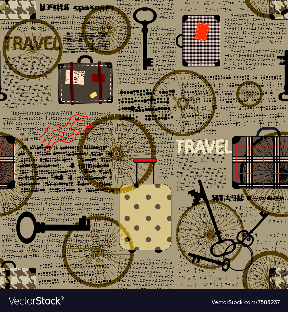 travel newspaper background royalty free vector image