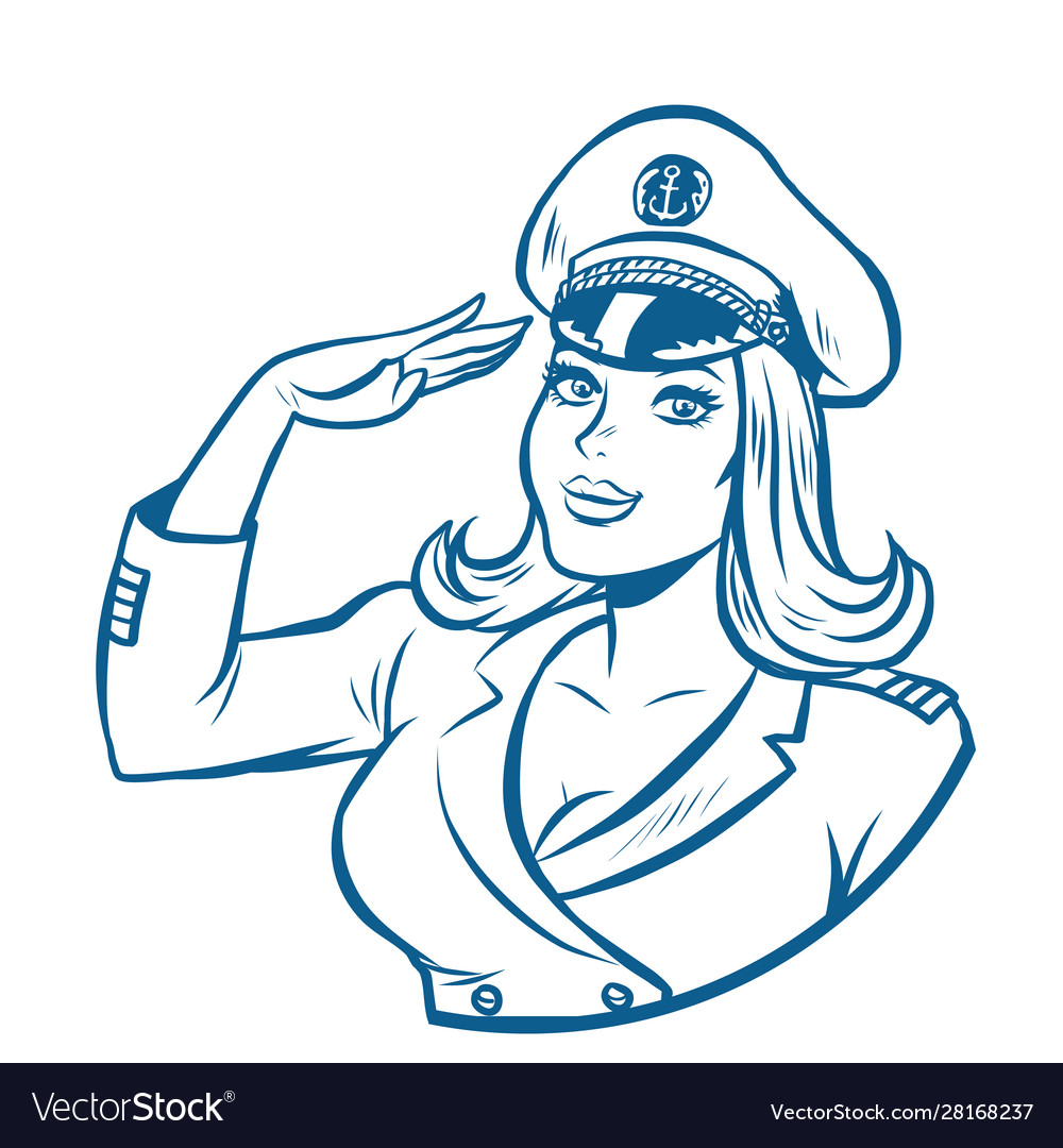 Woman captain a sea ship