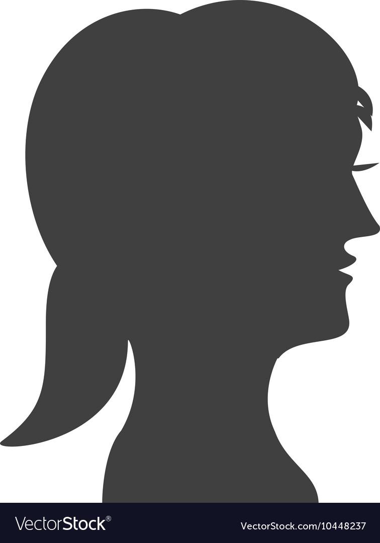 Woman head profile silhouette icon