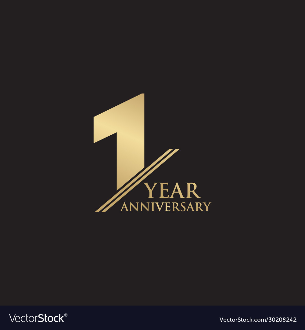 1st year anniversary logo design template vector image vectorstock