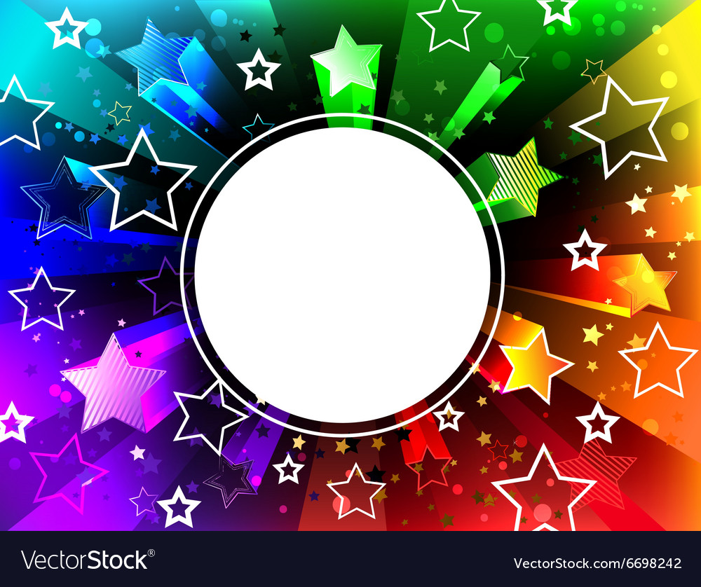 Banner on Rainbow Background vector image
