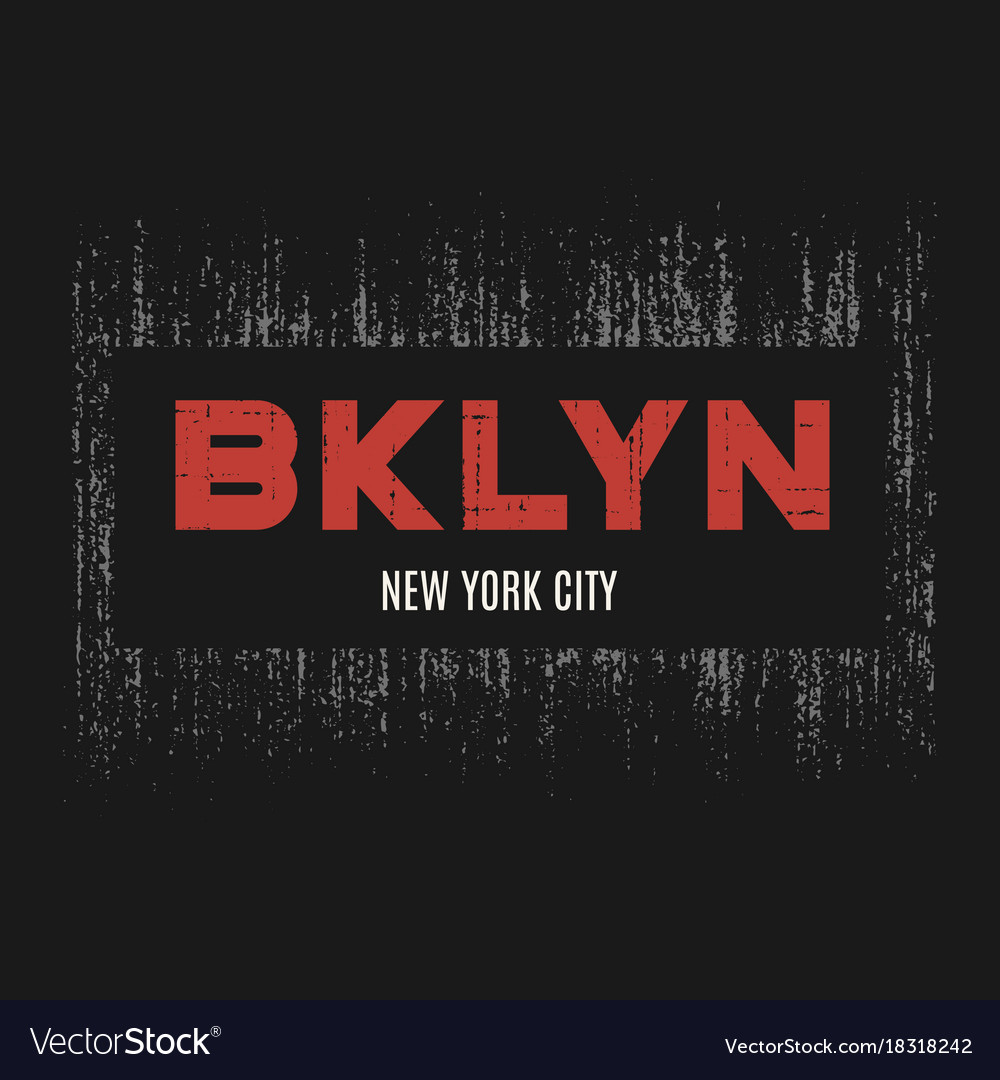 Brooklyn t-shirt and apparel design with grunge