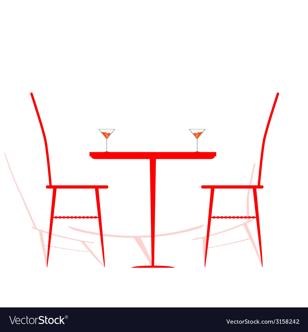 Chair and table with wine on it