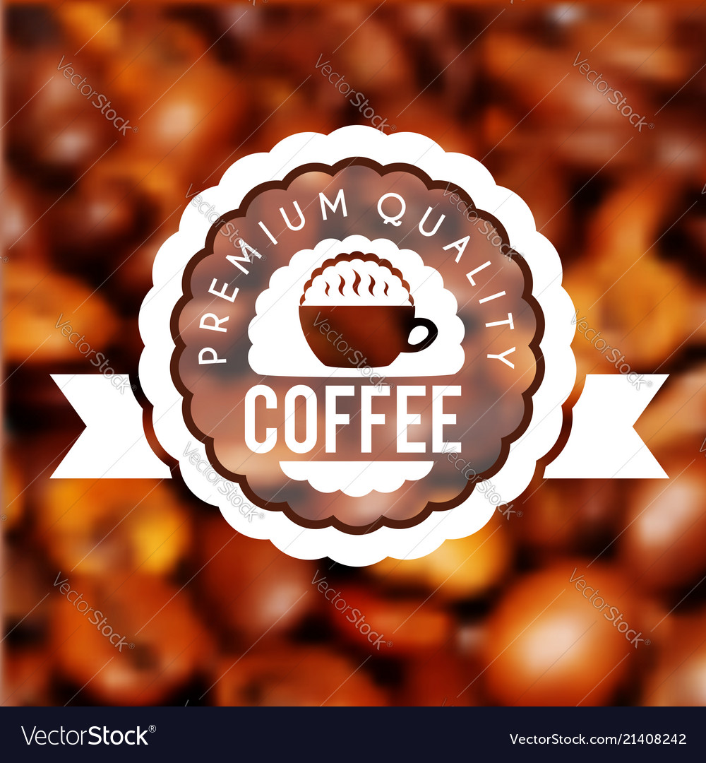 Cup of fresh hot coffee with scent label on the