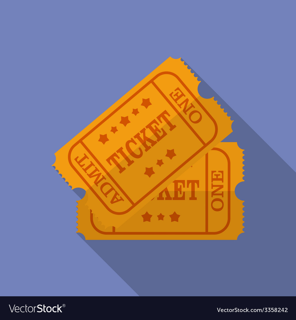 Icon of Ticket Flat style
