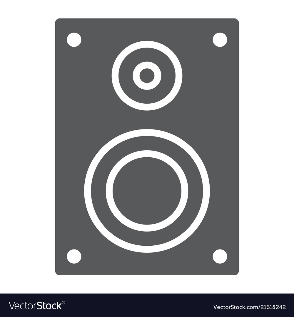 Sound speaker glyph icon electronic and digital