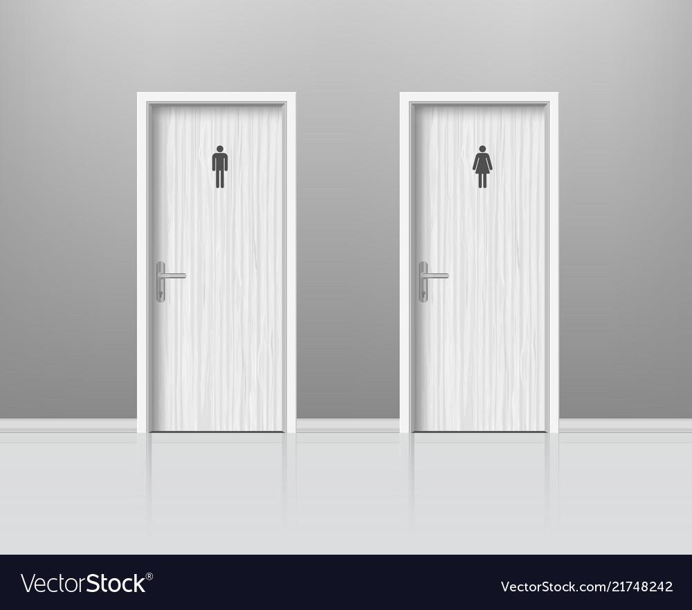 Toilet doors for male and female genders wc door