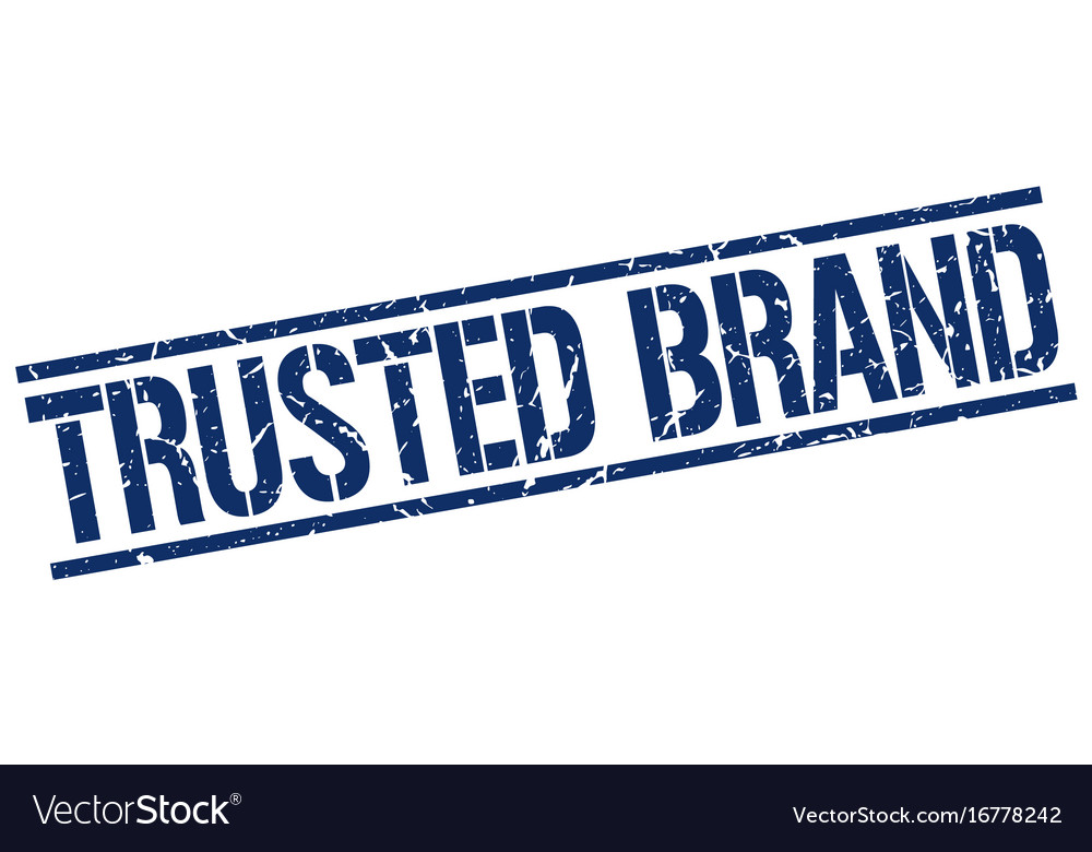 Trusted brand stamp vector image on VectorStock