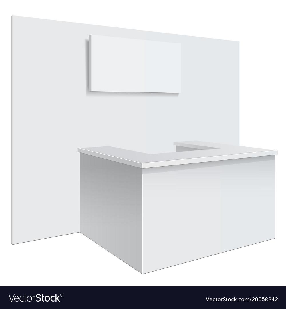 White reception or information desk