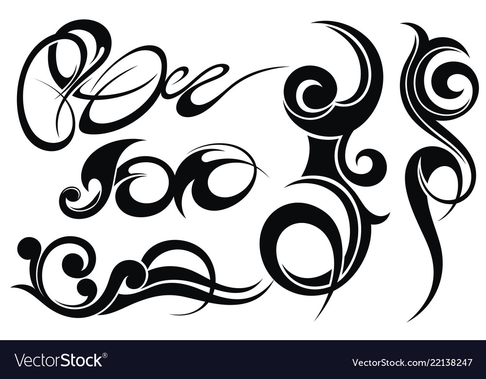 Abstract tattoo elements