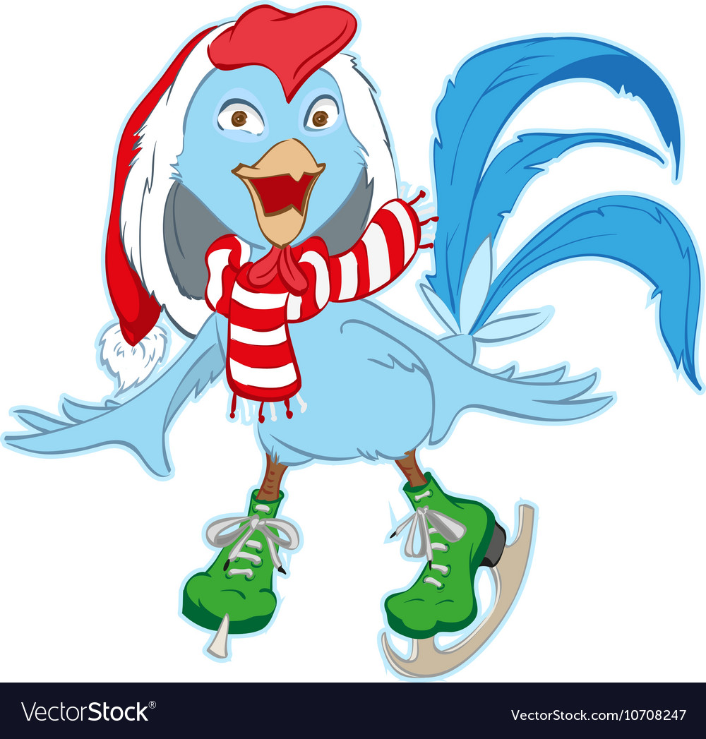 Christmas Santa Rooster symbol 2017 skates