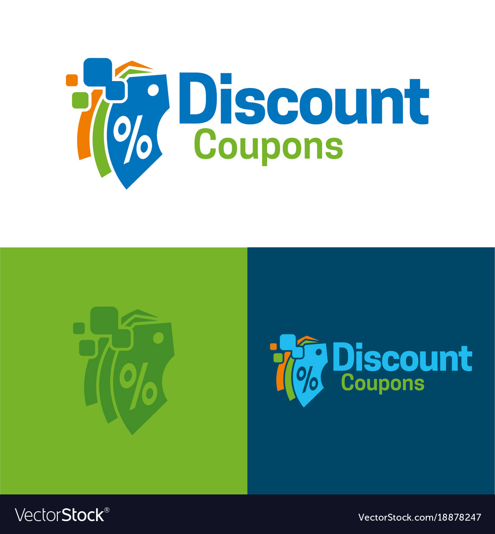 Discount Coupons Icon And Logo Royalty Free Vector Image