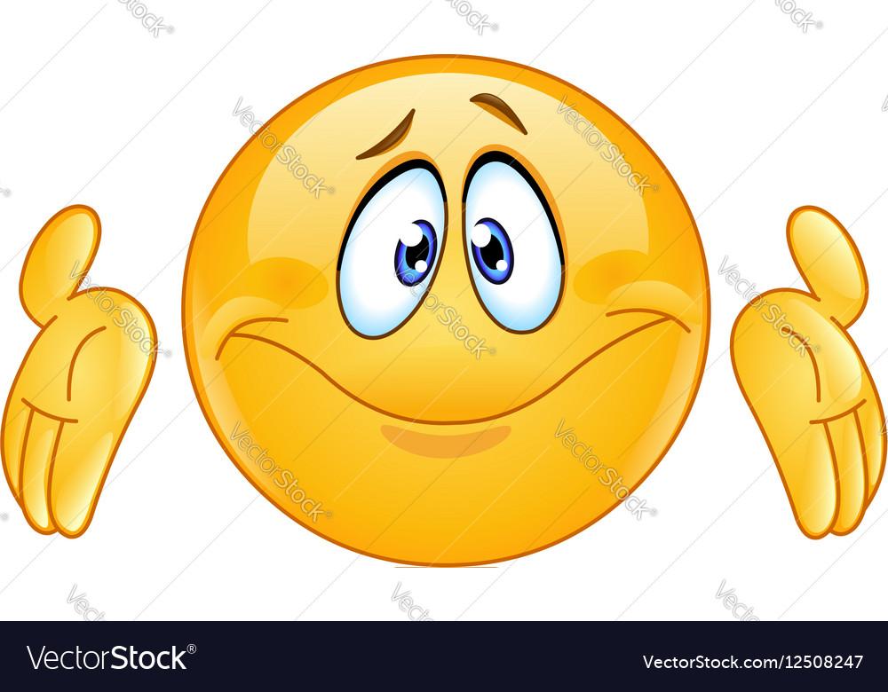 dont know emoticon royalty free vector image vectorstock Thinking Clip Art Emoji Huh Clip Art