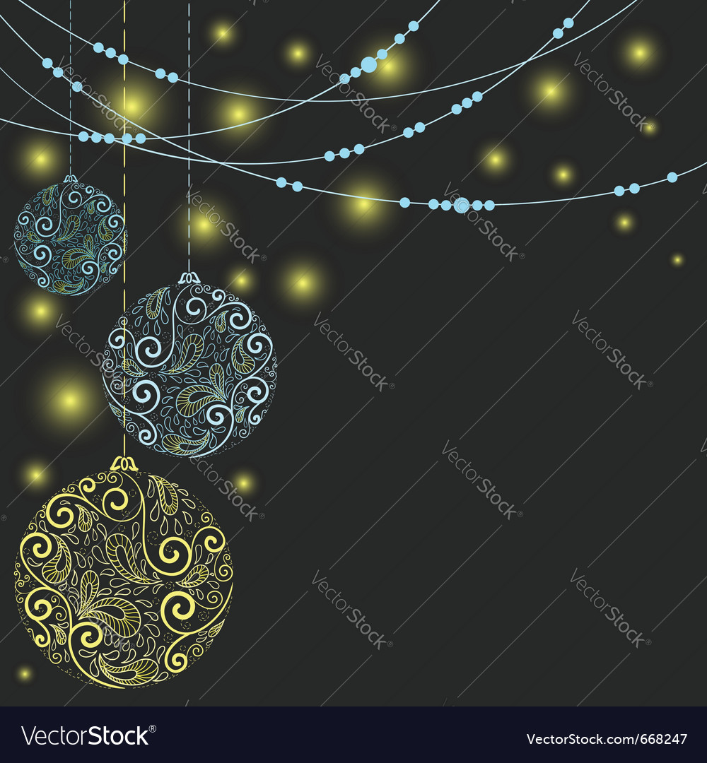 Fantasy christmas ball background vector