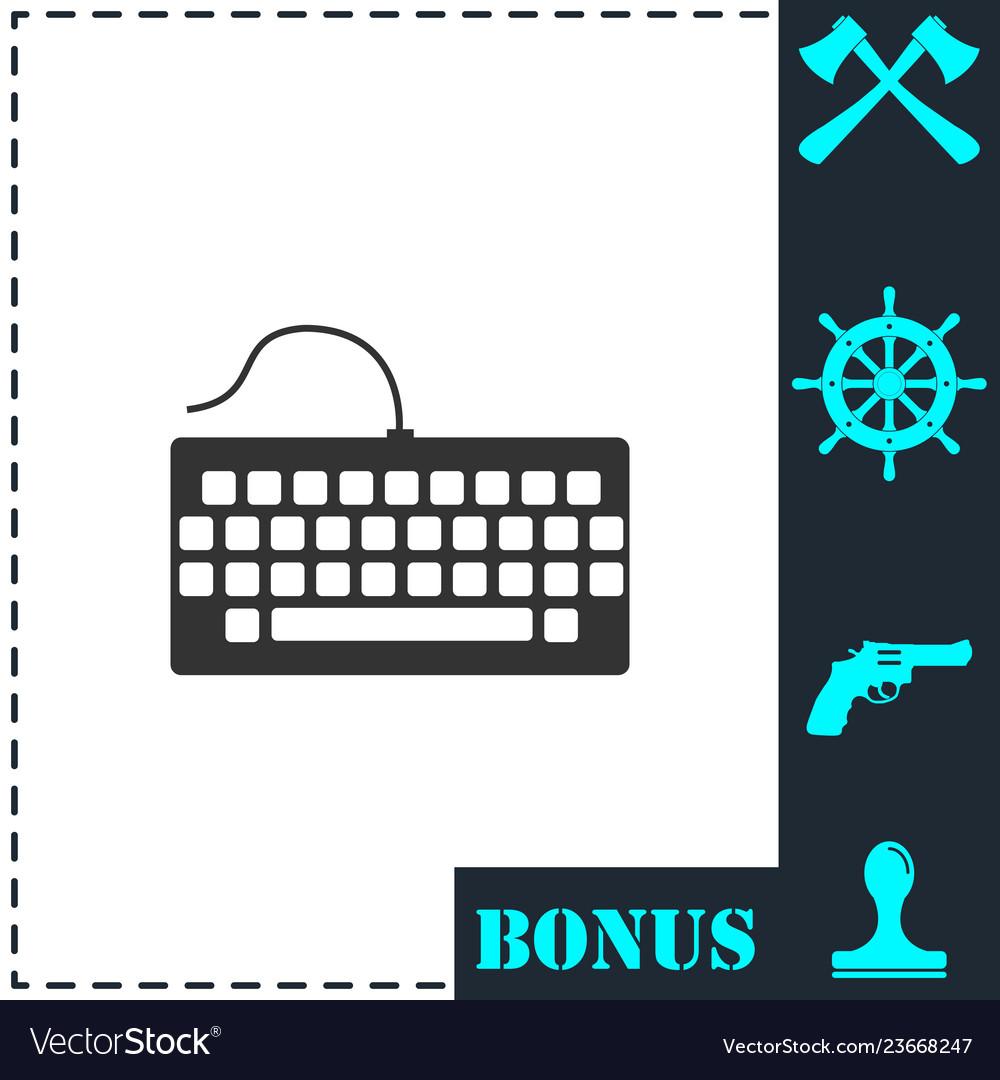 Keyboard icon flat