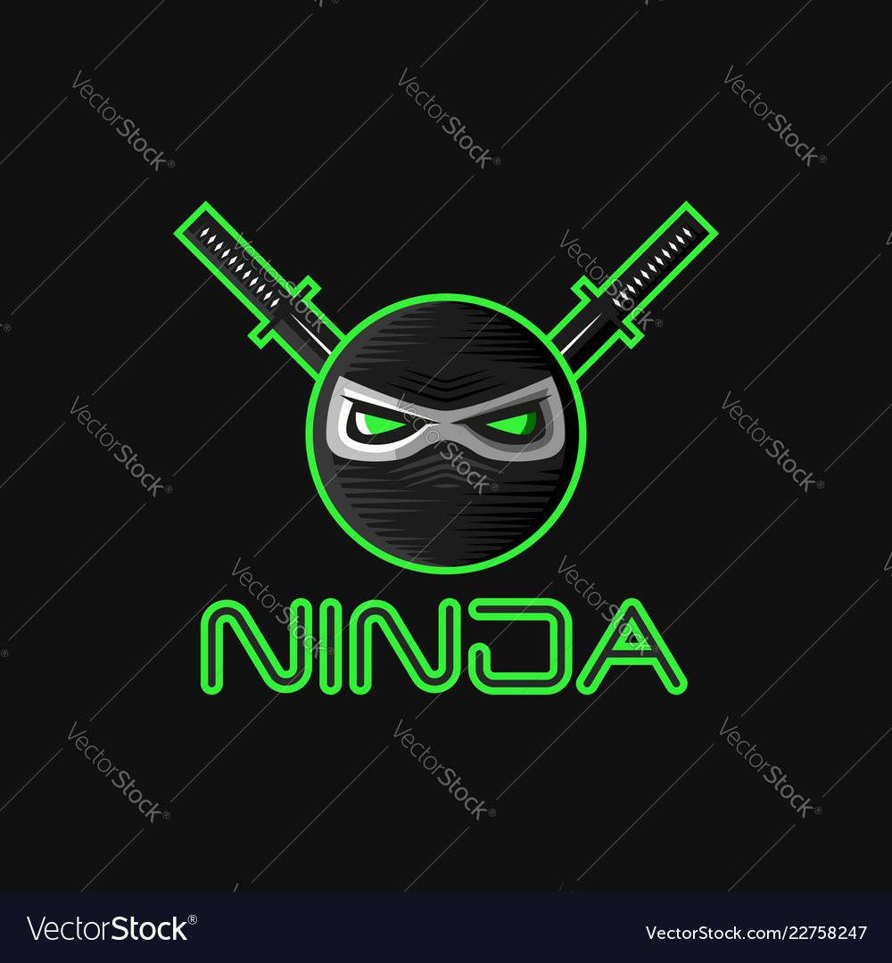 Ninja superhero mask logo for a sports team mascot