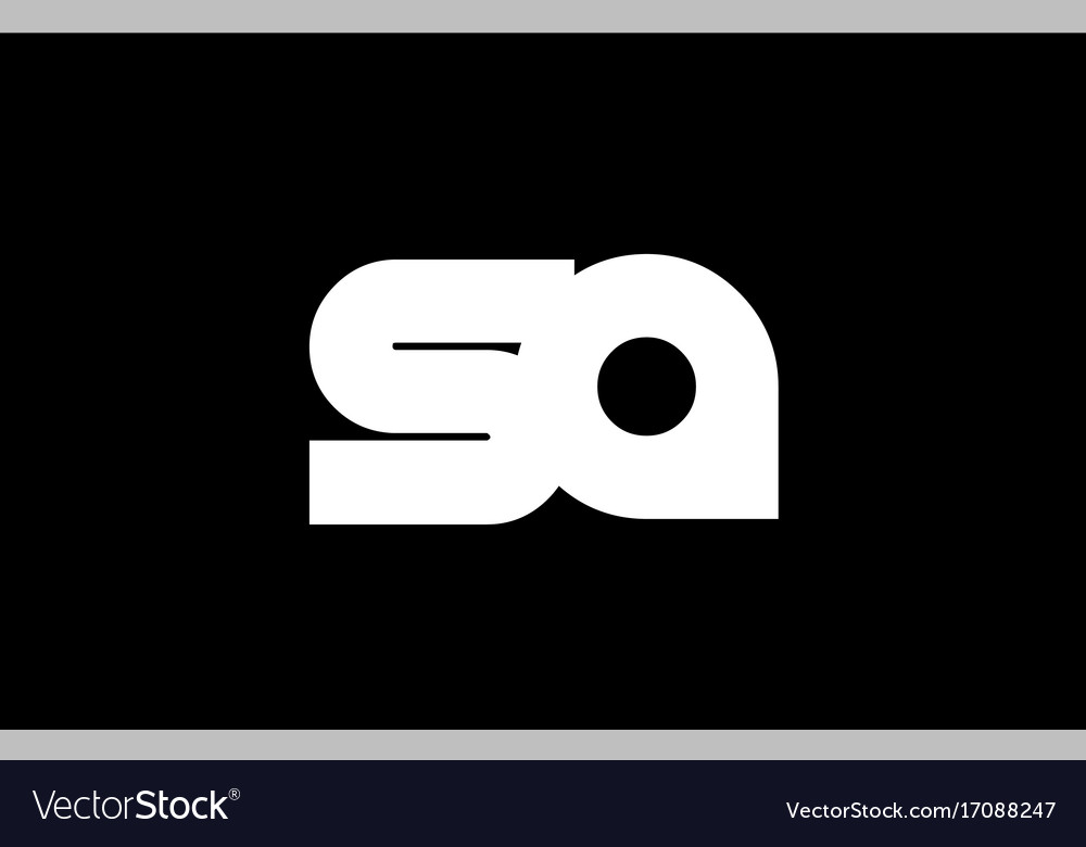 Sa s a black white bold joint letter logo