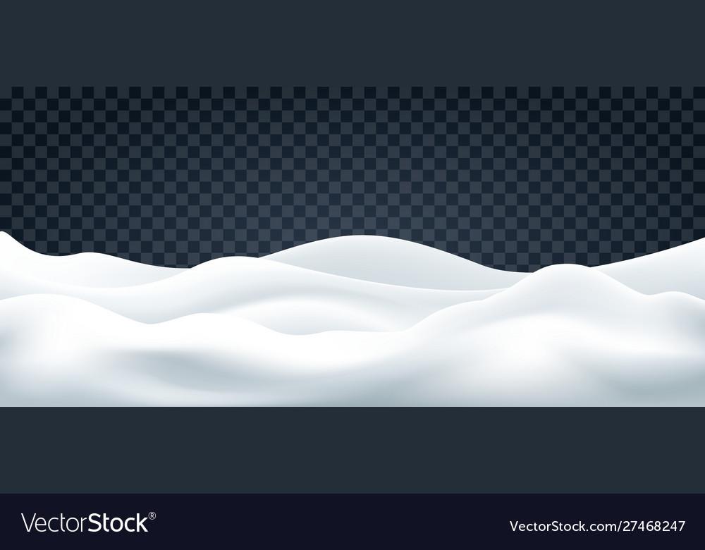 Snowdrifts on transparent backdrop