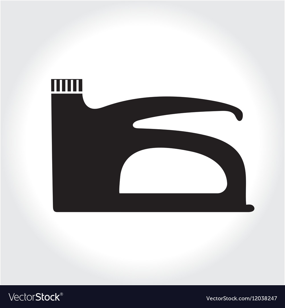 Stapler tool icon black silhouette Element logo vector image