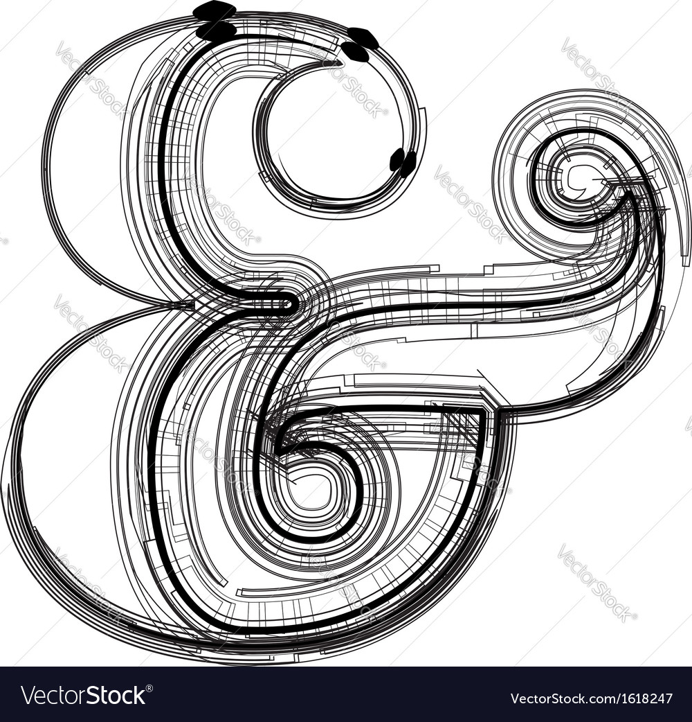 Technical typography symbol