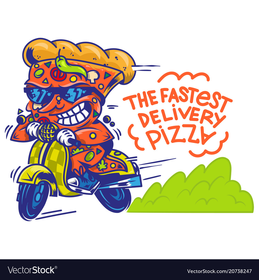 The fastest delivery of pizza