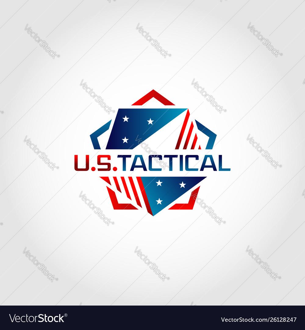 Us america pentagon tactical logo design symbol