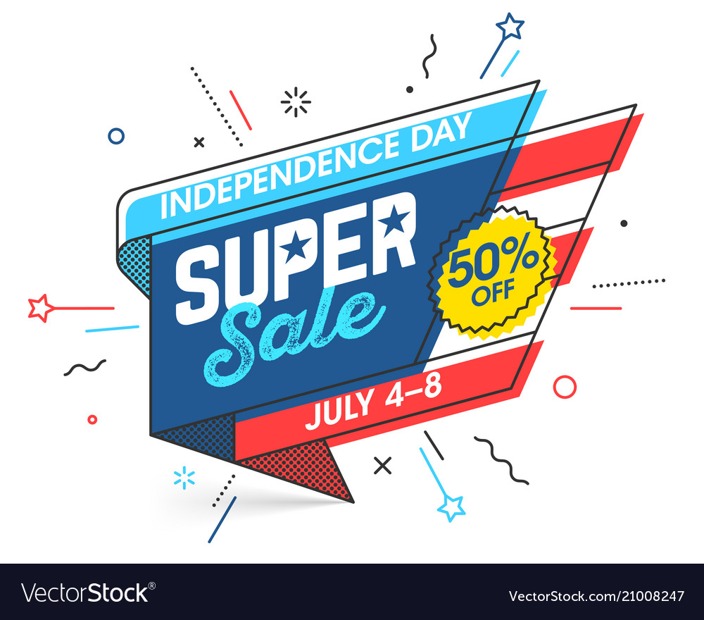 Usa independence day super sale banner template