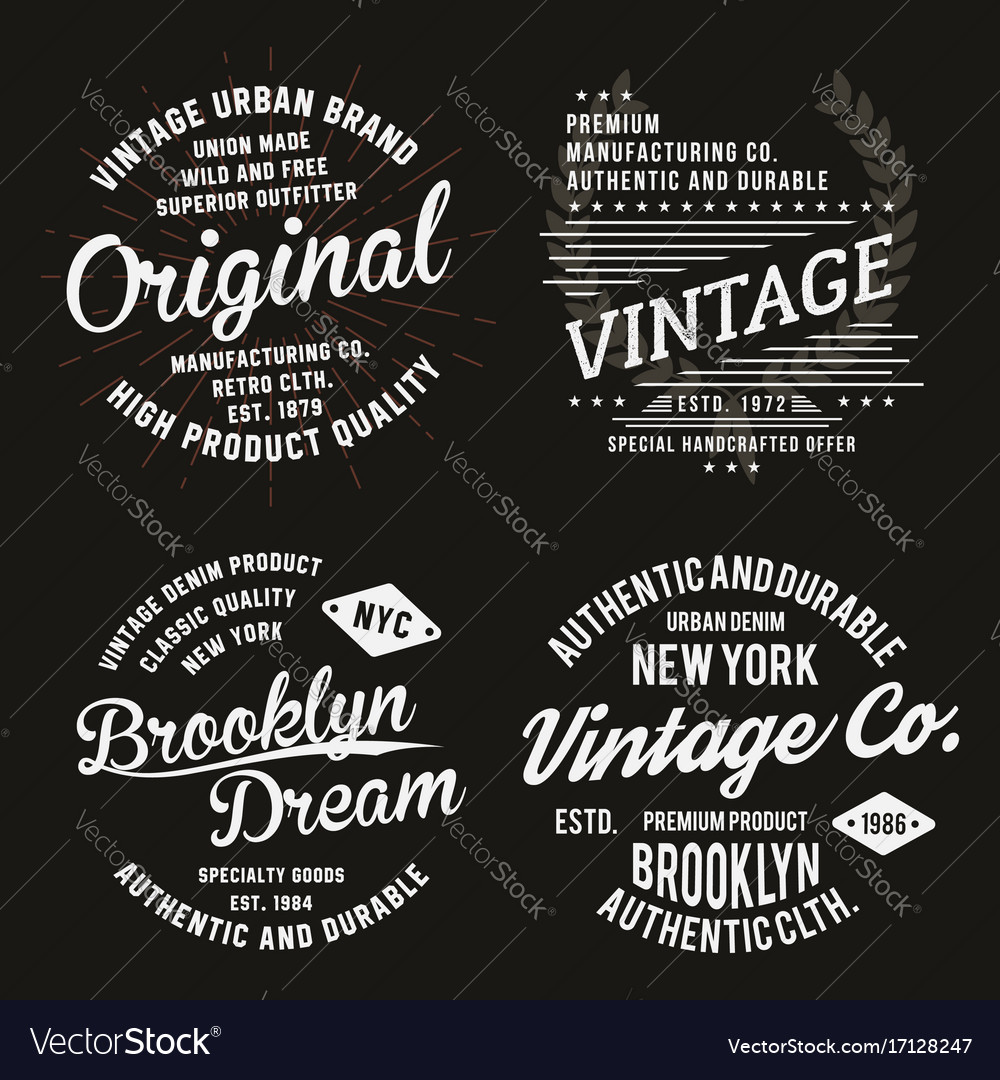Vintage typography for t-shirt print premium