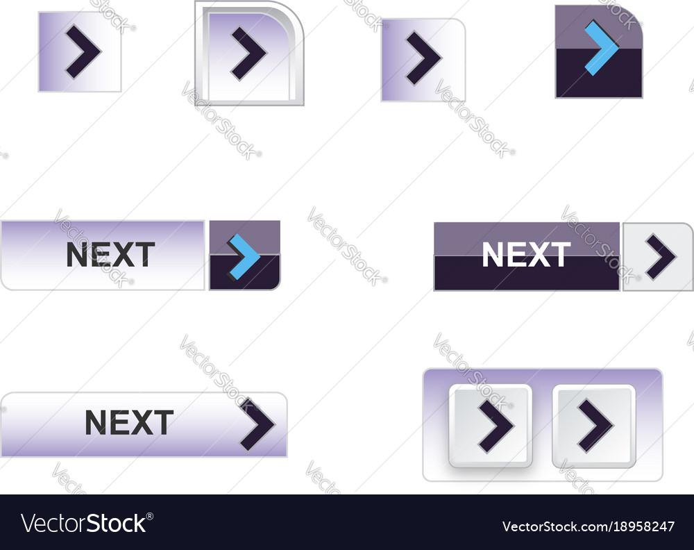 Web buttons blue