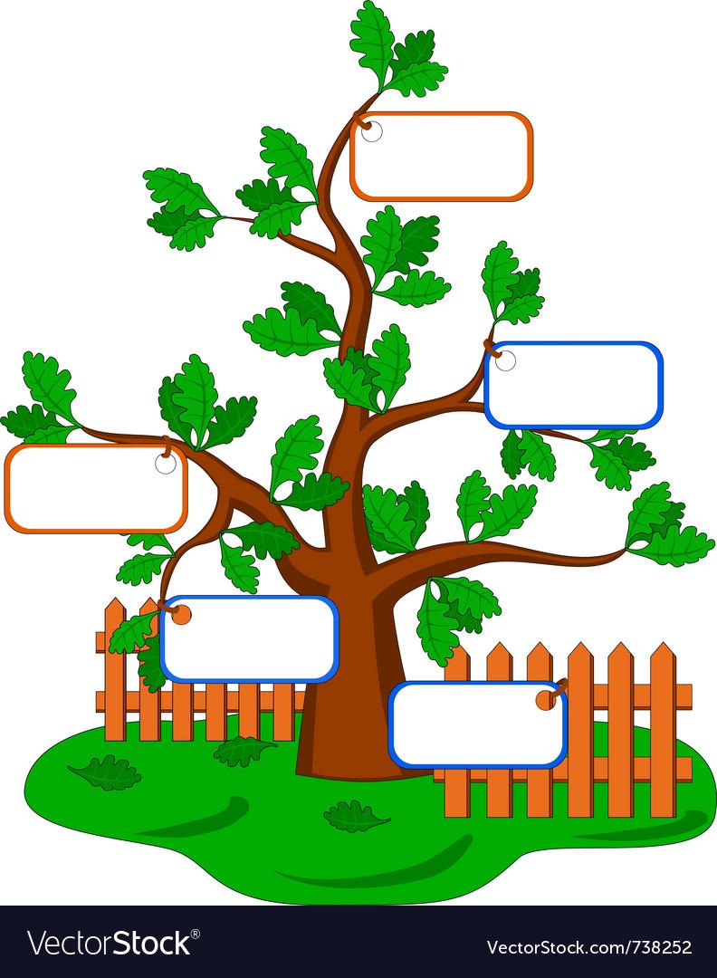 cartoon oak tree royalty free vector image vectorstock rh vectorstock com oak tree cartoon images cartoon oak tree leaf