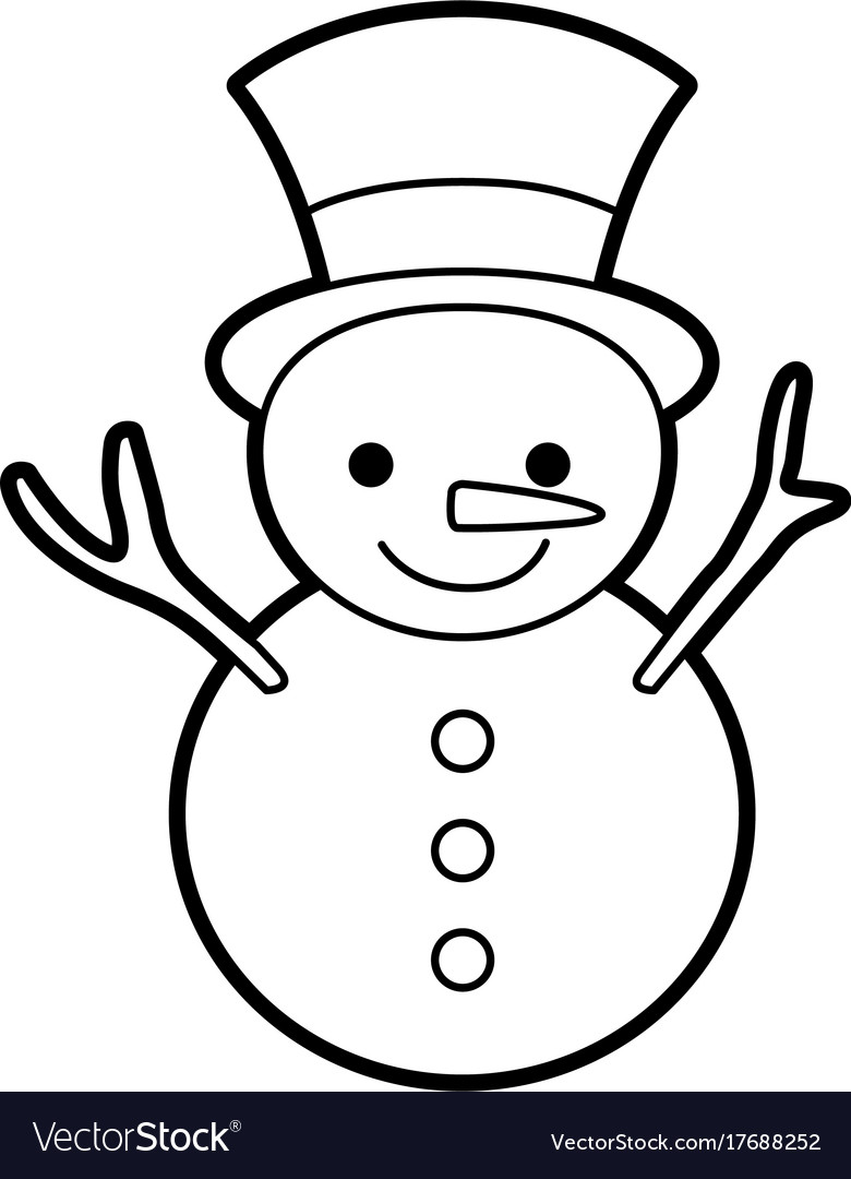 Christmas snowman cartoon smile character winter
