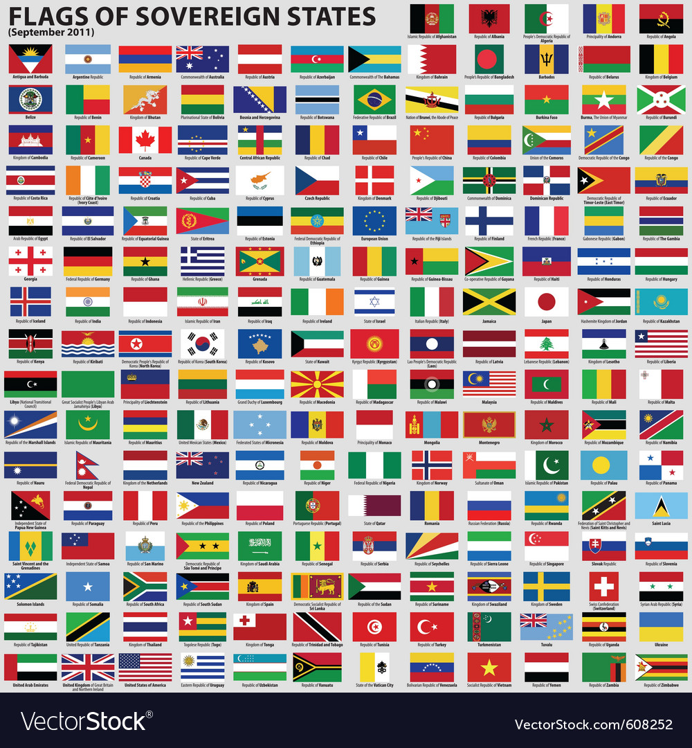 Flags world sovereign states
