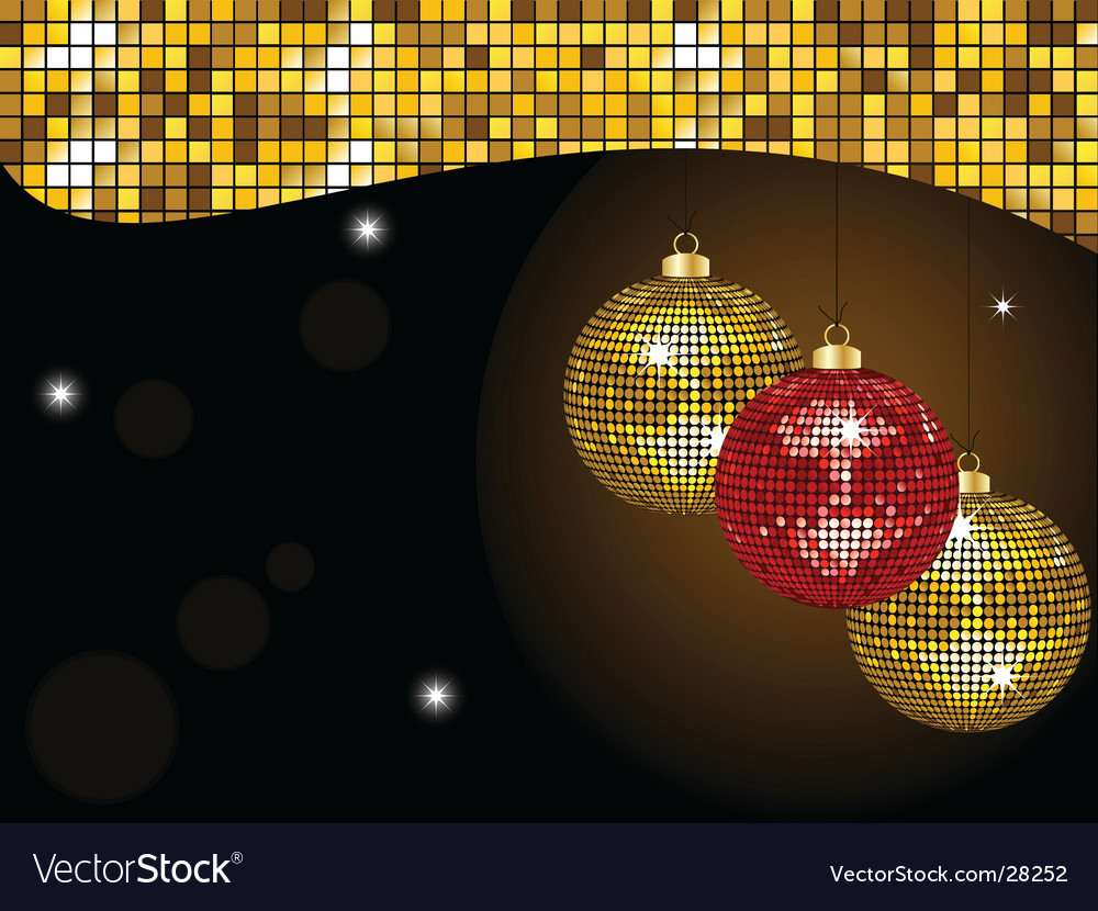 Gold Christmas mirror baubles