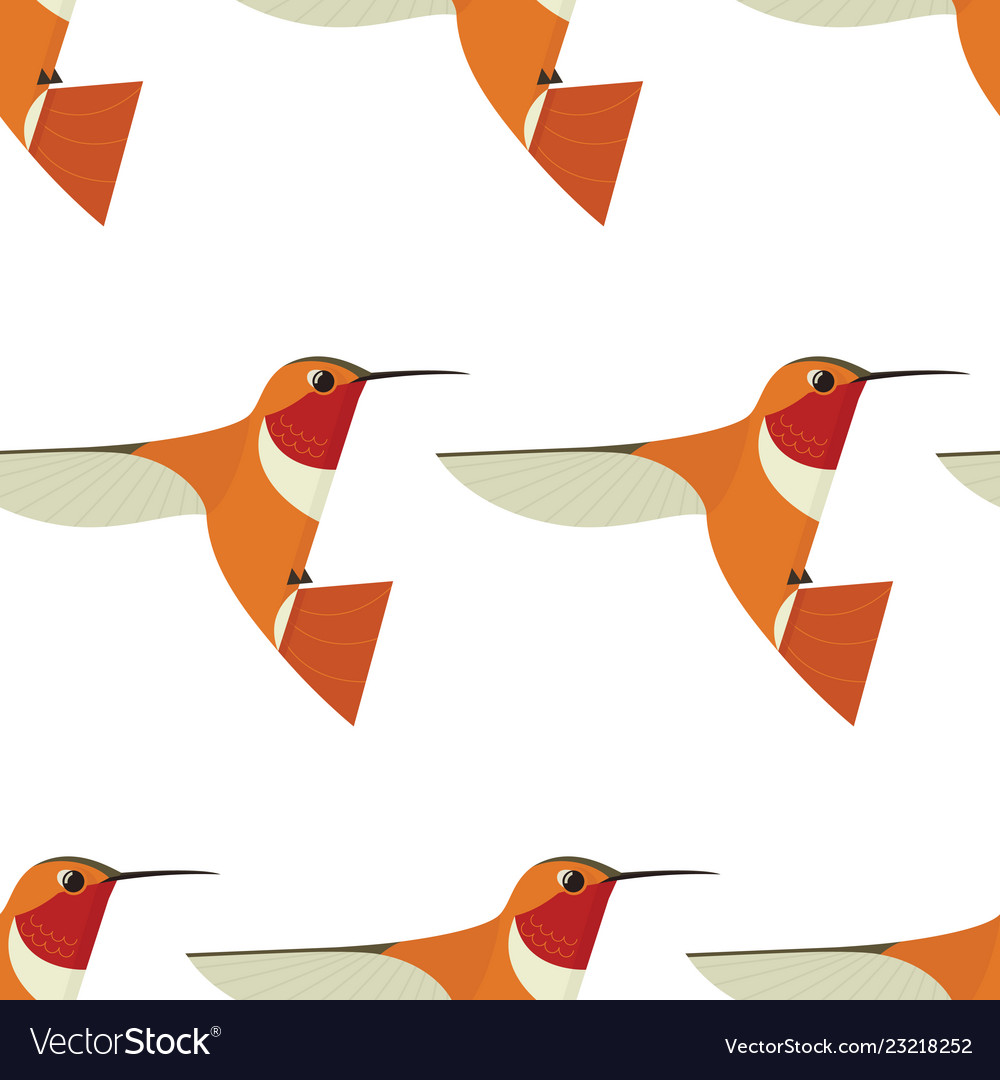 Humming bird seamless pattern