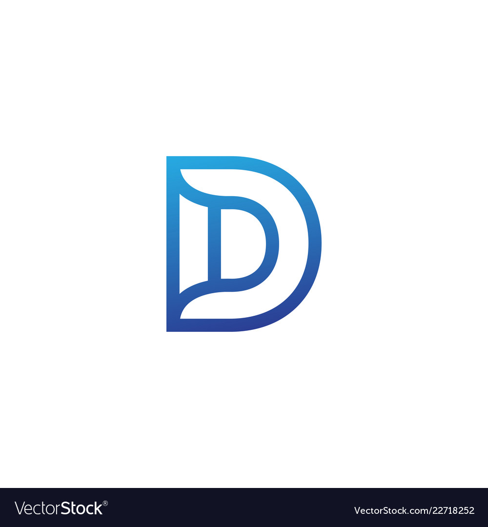 Luxury logotype premium letter d logo with modern