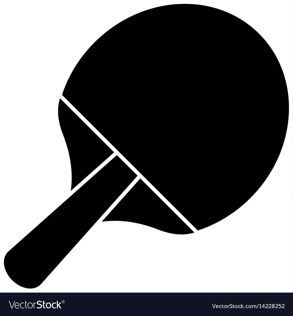 Racket ping pong sport image pictogram