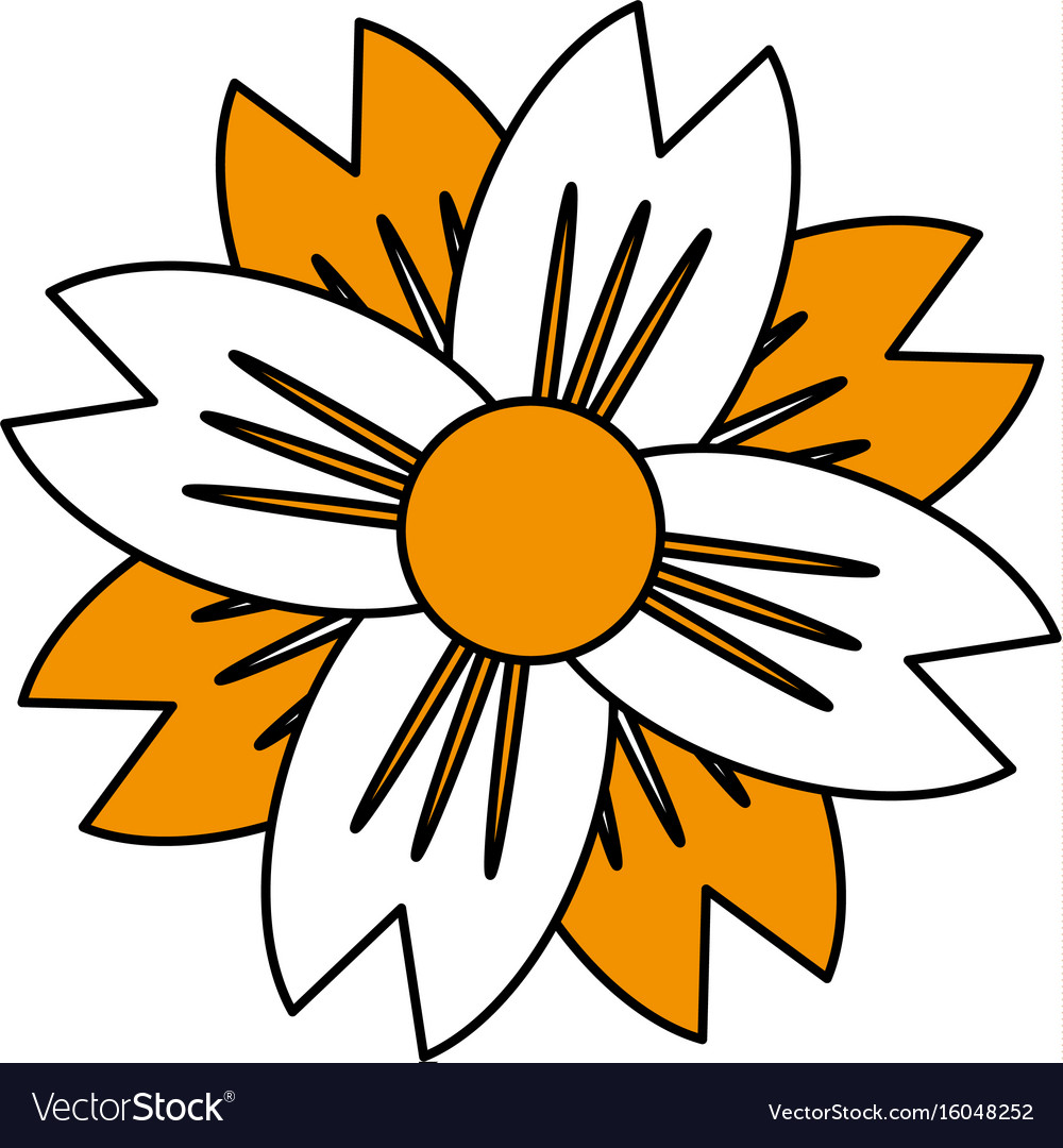 Single Yellow Flower Icon Image Royalty Free Vector Image