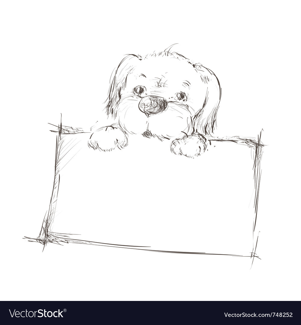 Sketch of a dog