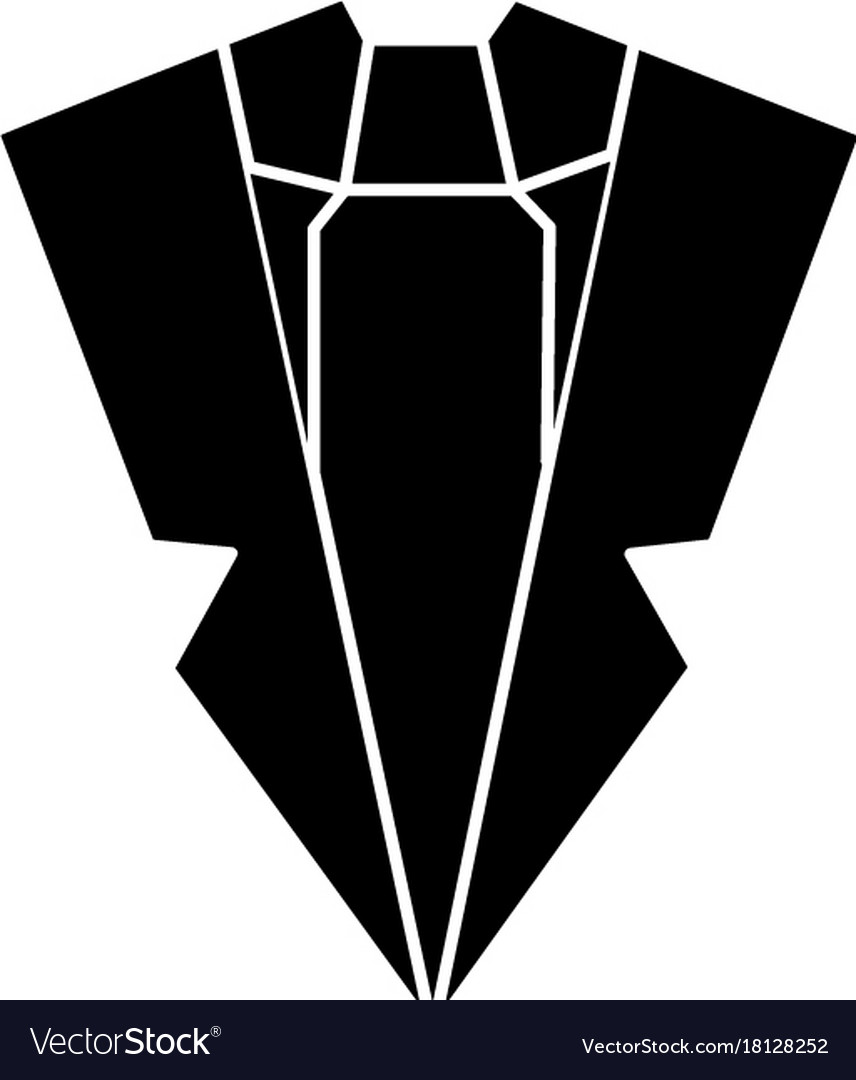 Suit and tie icon sign o