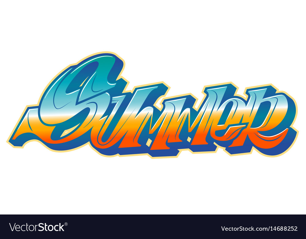 summer word in graffiti style royalty free vector image