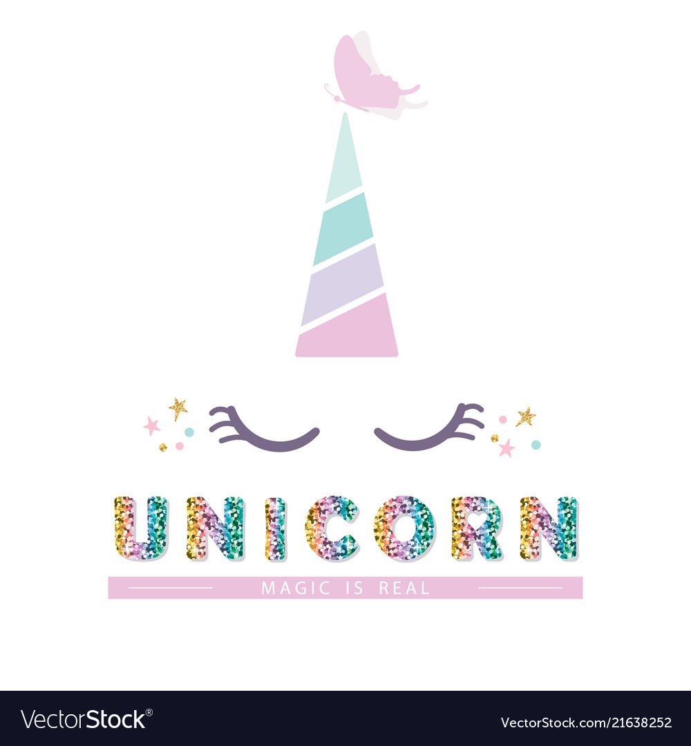 Unicorn cute catroon character for birthday baby