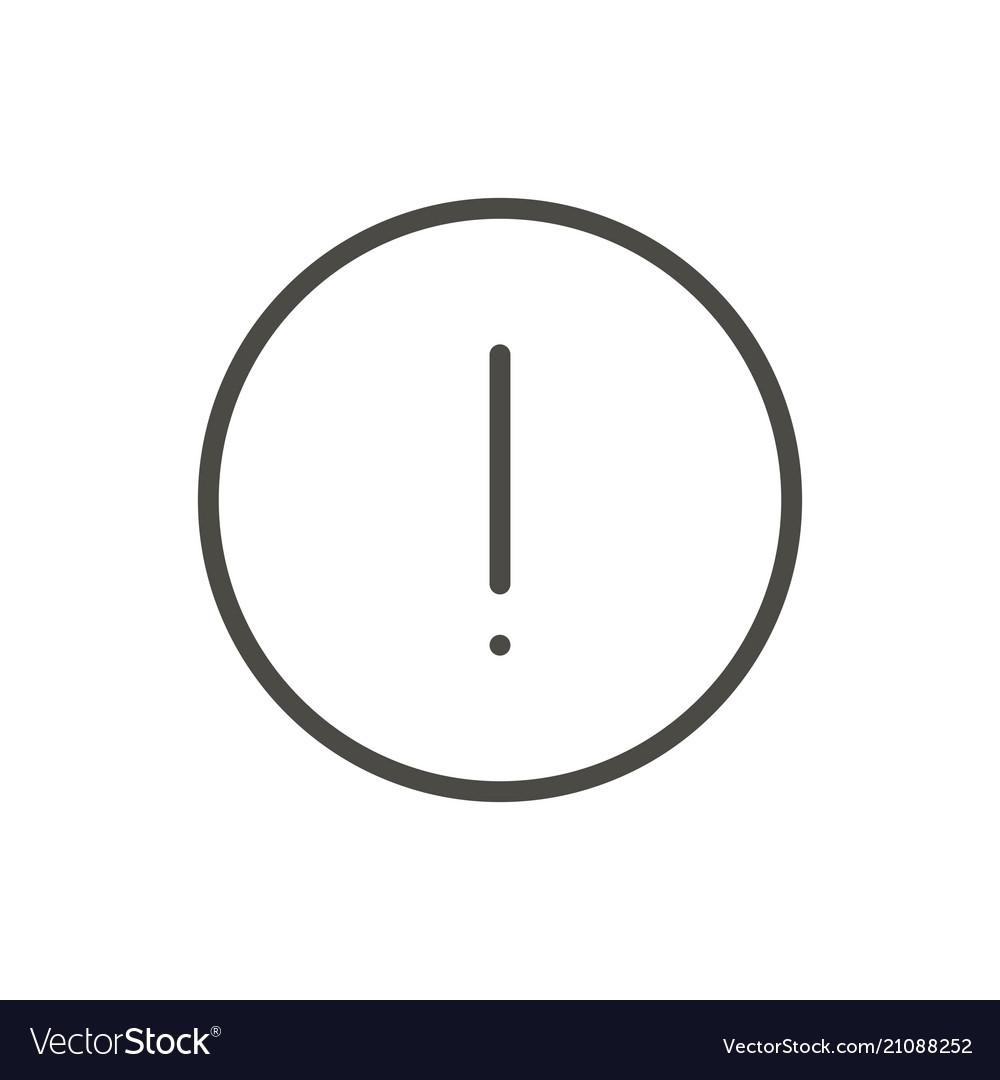 Warning icon line attention symbol