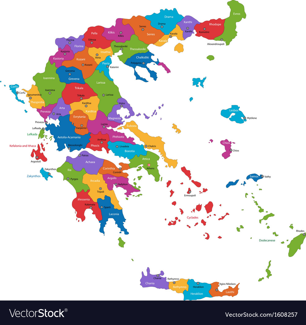 Greece Map Images.Greece Map Royalty Free Vector Image Vectorstock